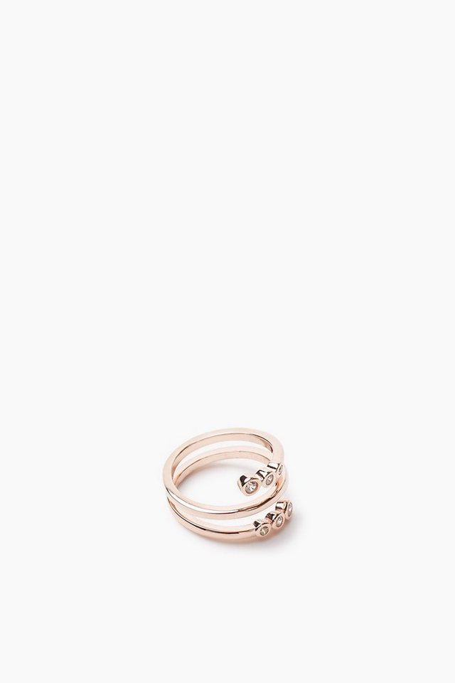 ESPRIT CASUAL Vergoldeter Sterling Silber Ring mit Zirkonia in one colour
