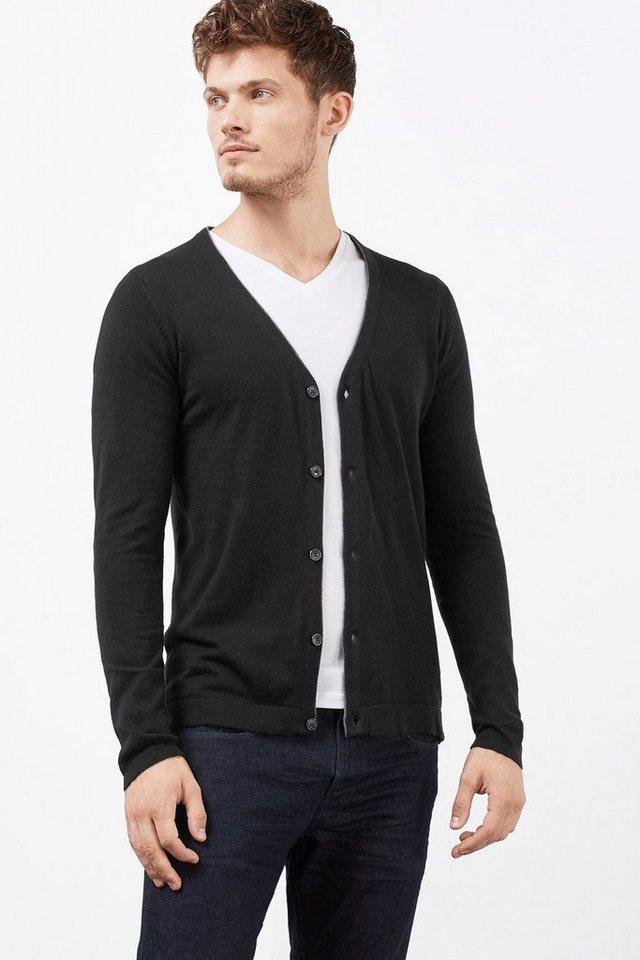 ESPRIT COLLECTION Cardigan, 100% australische Baumwolle in BLACK