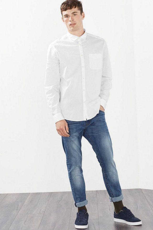ESPRIT CASUAL Basic Popelin Hemd aus Baumwoll-Stretch in WHITE