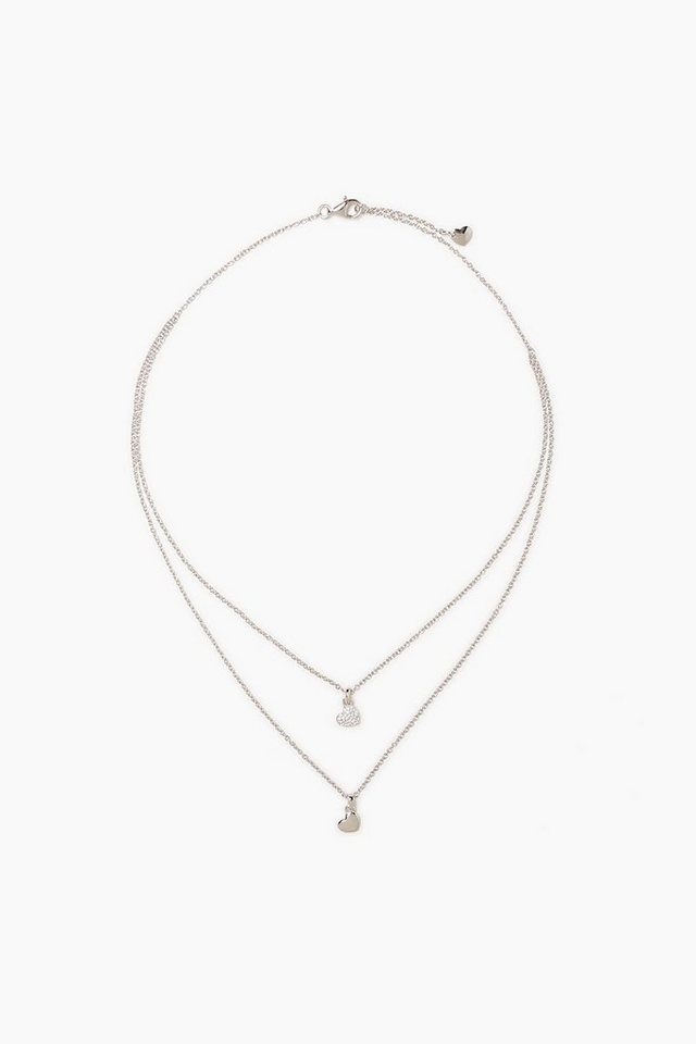 ESPRIT CASUAL 2in1 Kette aus Sterling Silber und Zirkonia in one colour