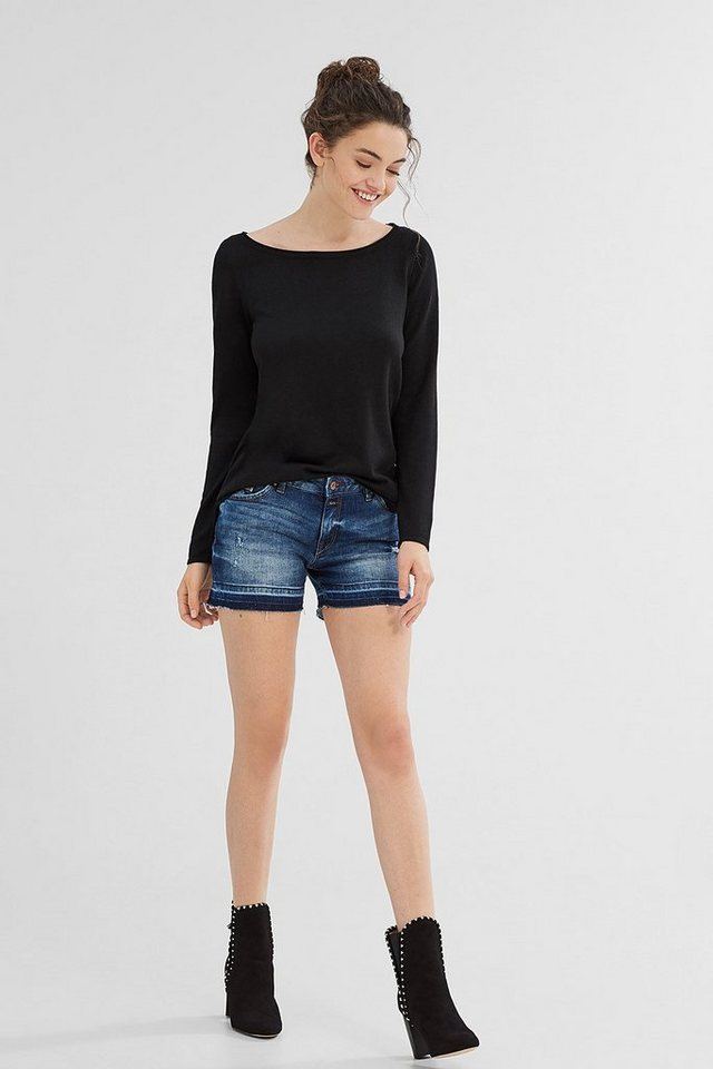 ESPRIT CASUAL Basic-Pullli aus softem Feinstrick in BLACK