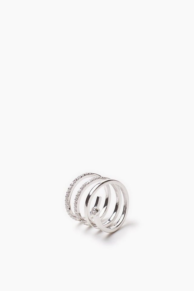 ESPRIT CASUAL Ring Spirale aus Sterling Silber mit Zirkonia in one colour