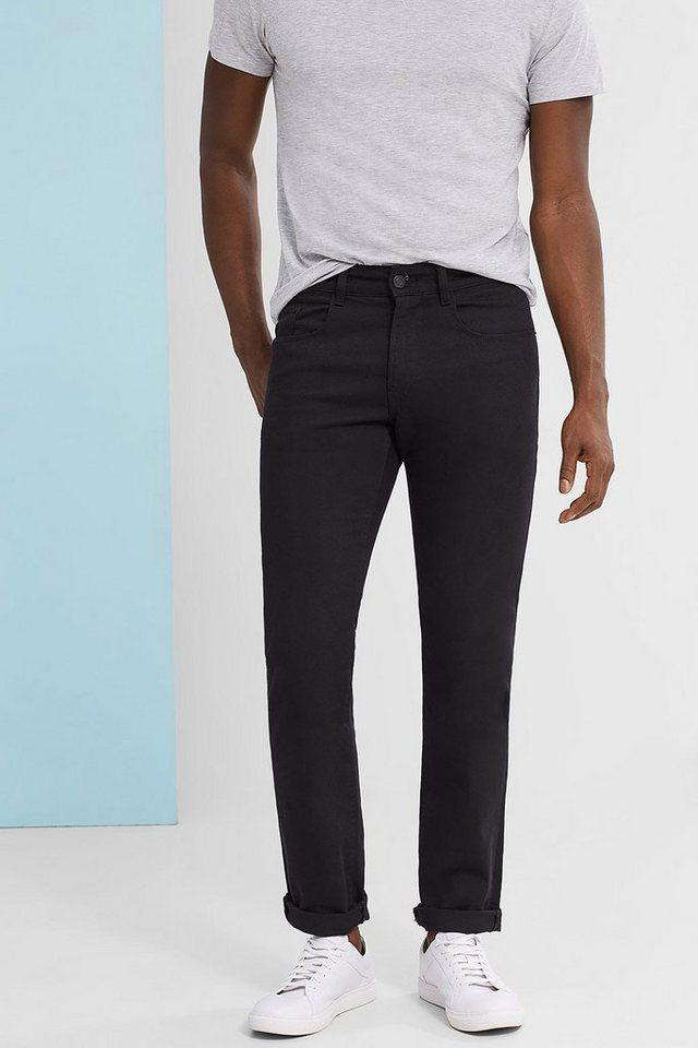 ESPRIT COLLECTION Farbechte Stretch-Jeans aus Black Denim in BLACK
