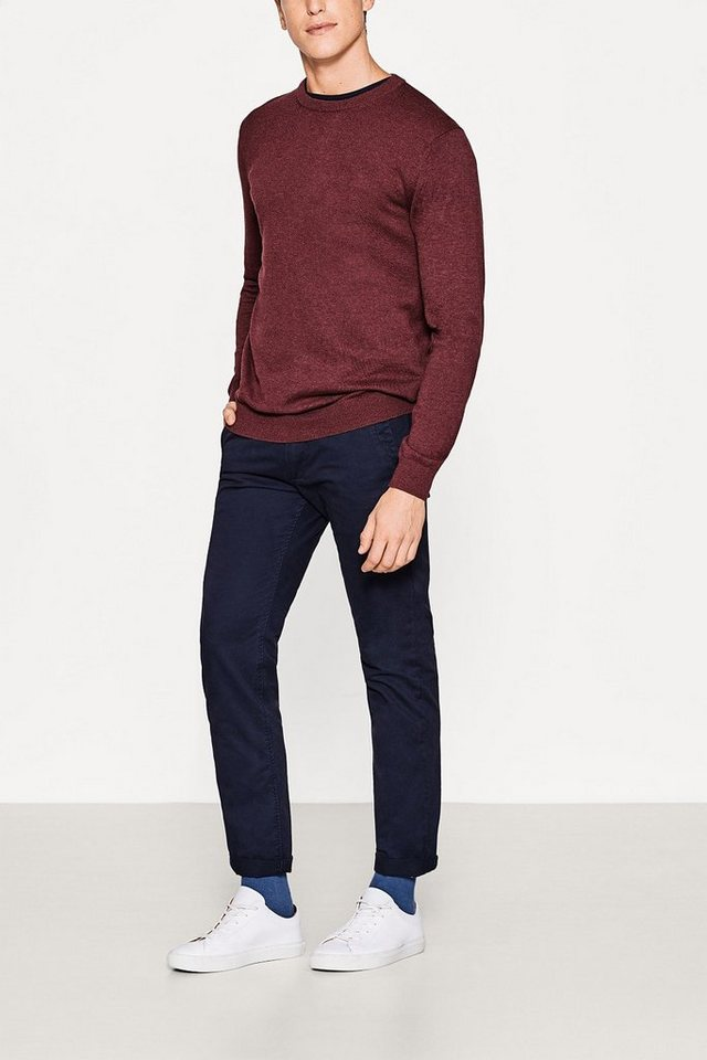 ESPRIT CASUAL Basic Chino aus 100% Baumwolle in NAVY