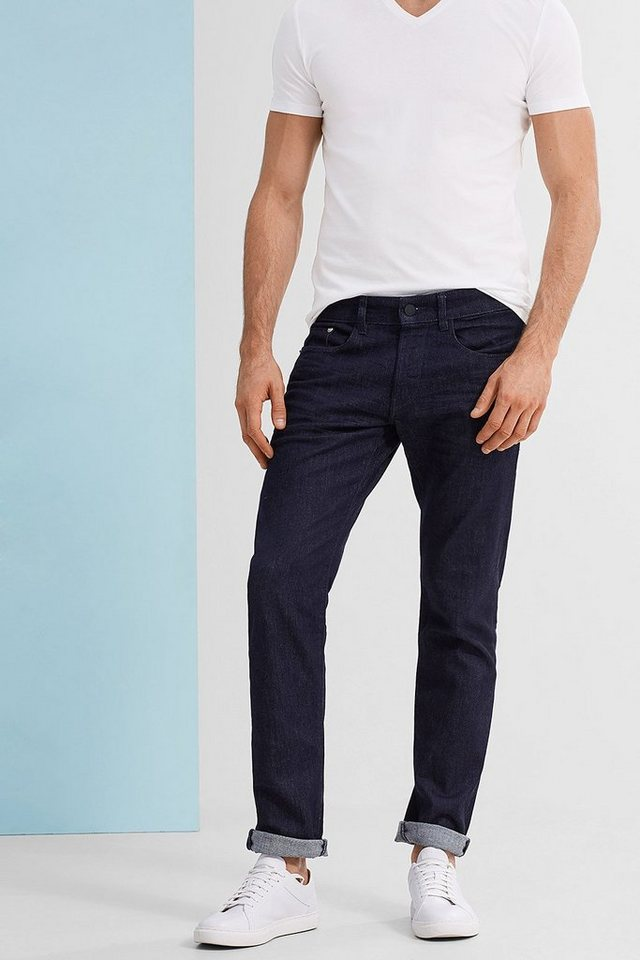 ESPRIT COLLECTION Stretch-Jeans mit dunkler Rinse-Waschung in BLUE RINSE