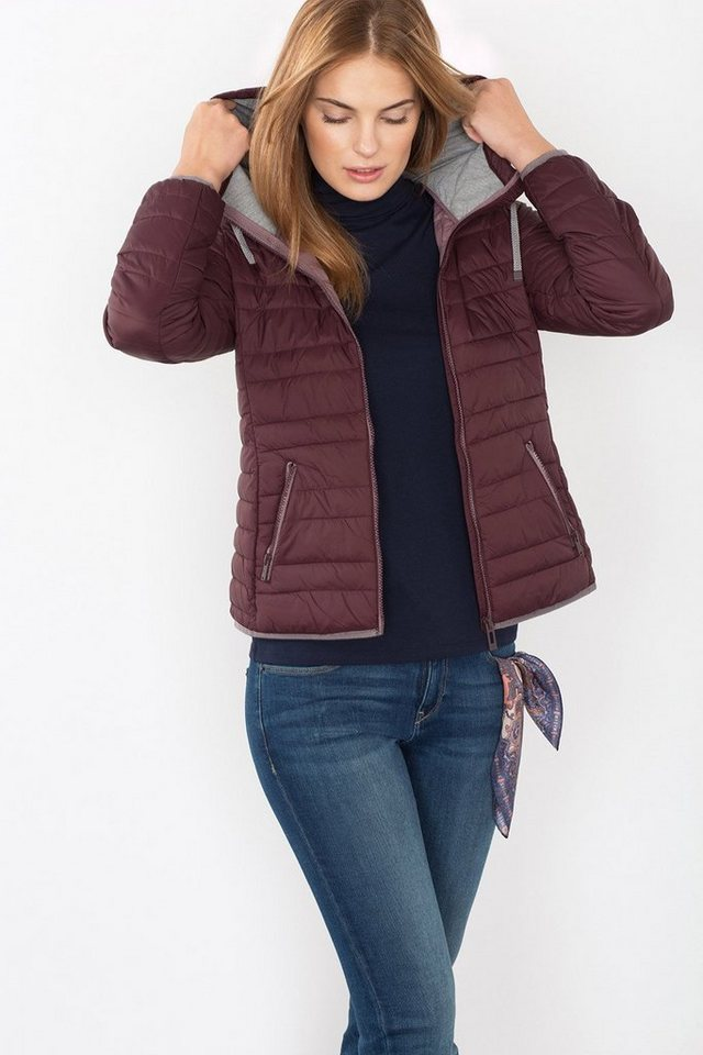 EDC Leichte Steppjacke mit Kapuze in BERRY PURPLE