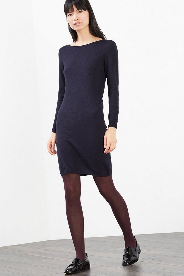 EDC Basic Feinstrick-Kleid in NAVY