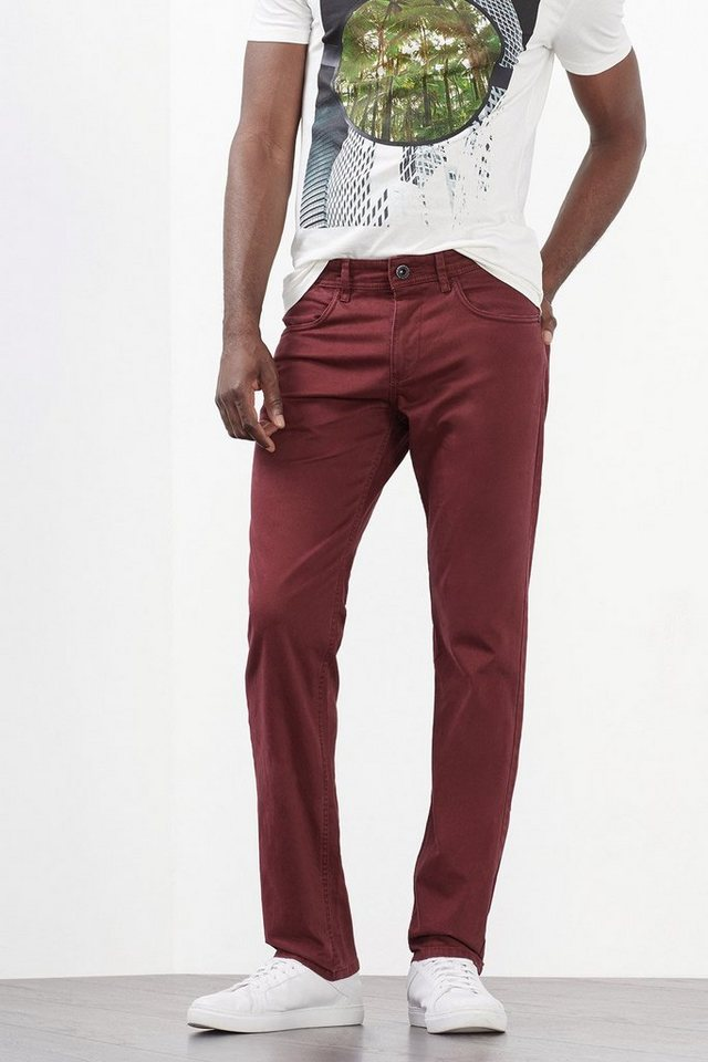 ESPRIT COLLECTION 5-Pocket aus weichem Baumwoll-Stretch in GARNET RED