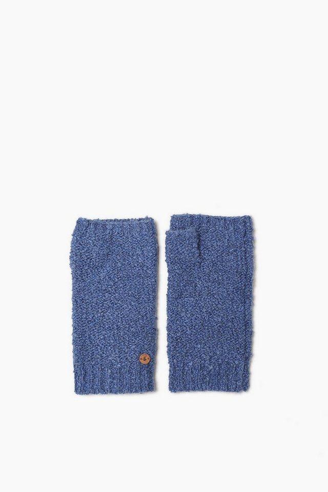EDC Fingerlose Handschuhe mit Wolle in BLUE