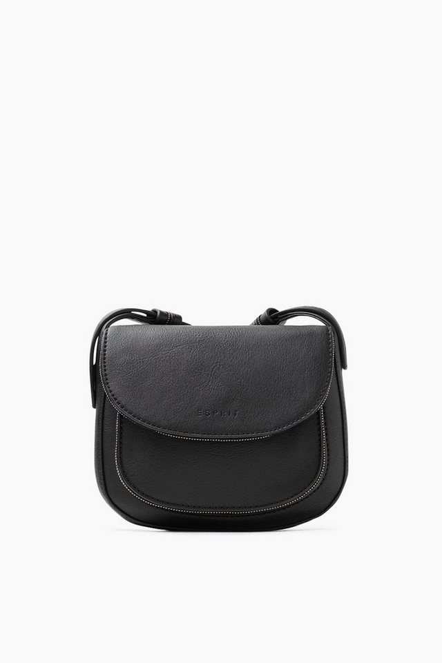 ESPRIT CASUAL Tasche in Lederoptik mit Metallperlen in BLACK
