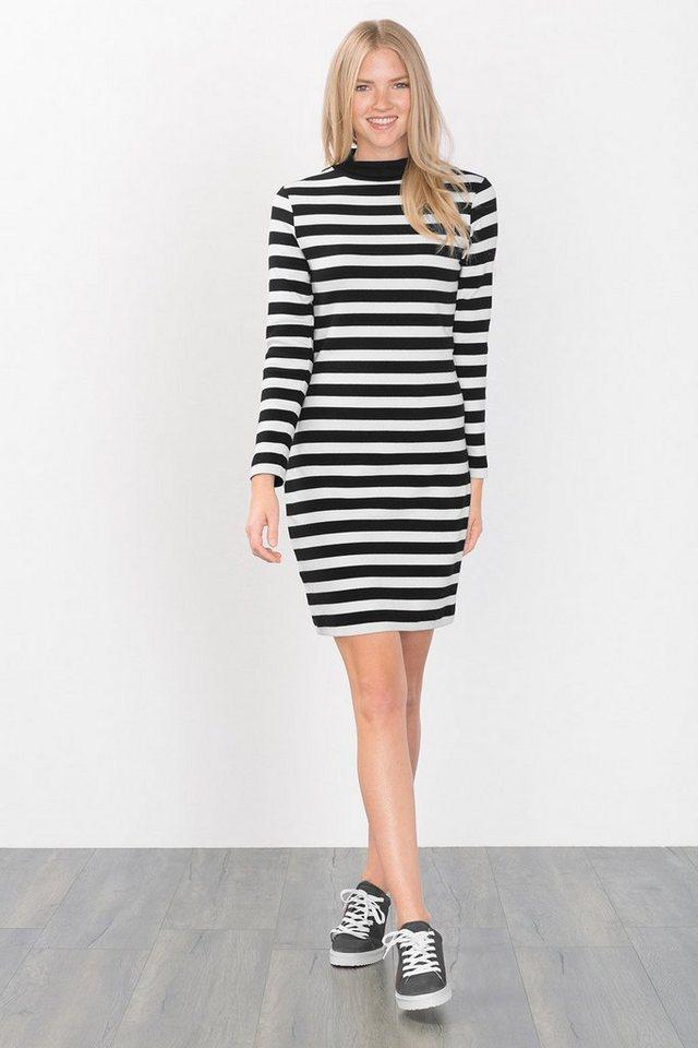 EDC Kleid aus dichtem Ripp-Jersey in BLACK