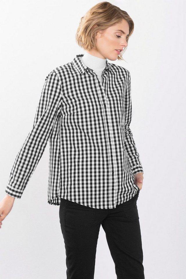 ESPRIT CASUAL Bluse aus 100% Baumwolle in BLACK