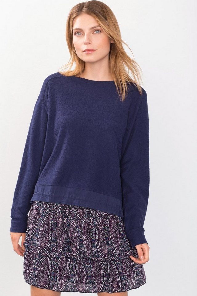 ESPRIT CASUAL Fashion Sweatshirt mit Tunnelzug in NAVY
