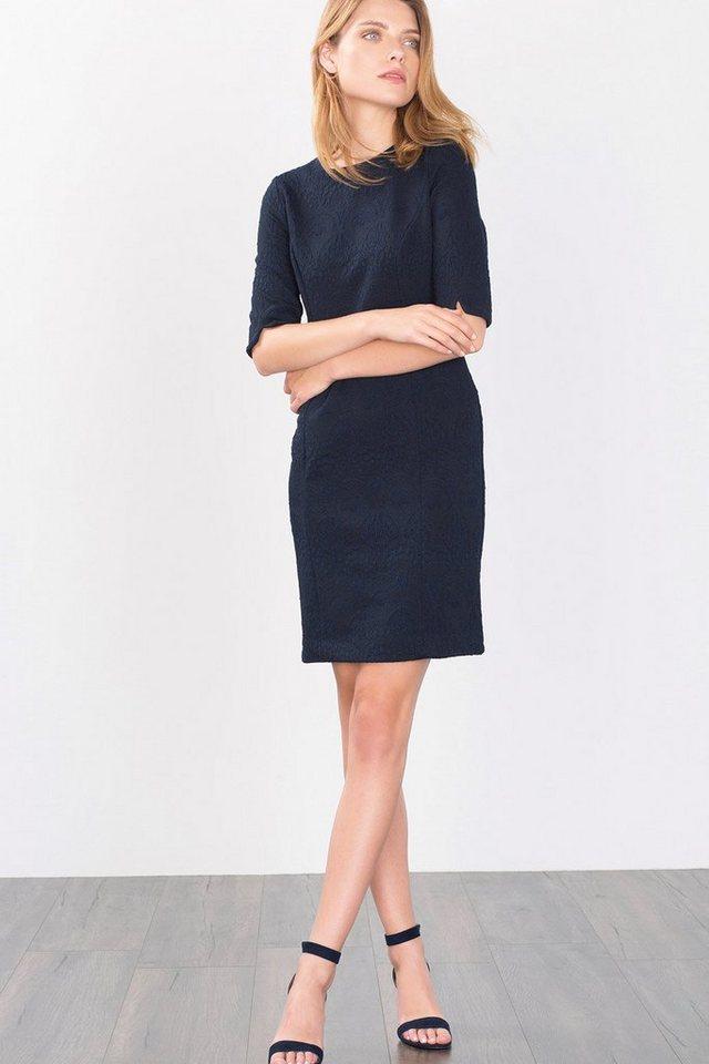 ESPRIT COLLECTION Stretch Jacquard-Kleid in NAVY