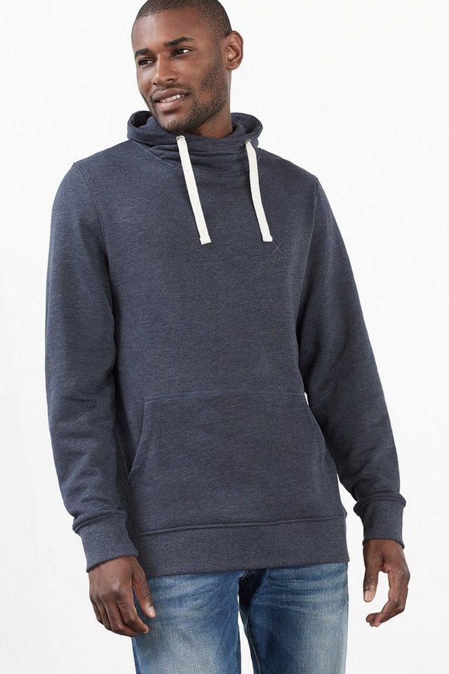 ESPRIT CASUAL Baumwoll-Mix Sweatshirt mit Schalkragen in NAVY