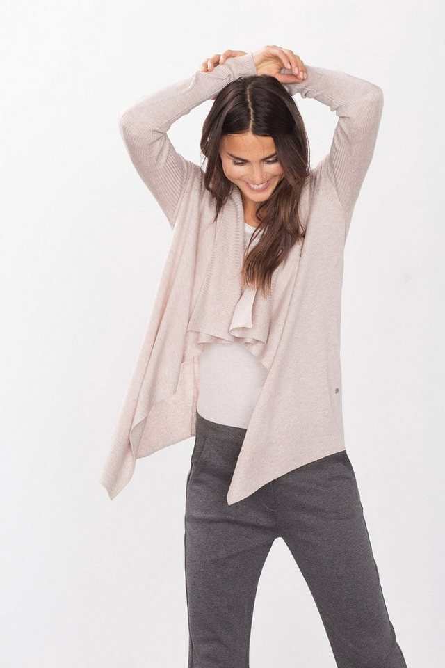 EDC Cardigan in Strukturmix-Optik in LIGHT BEIGE
