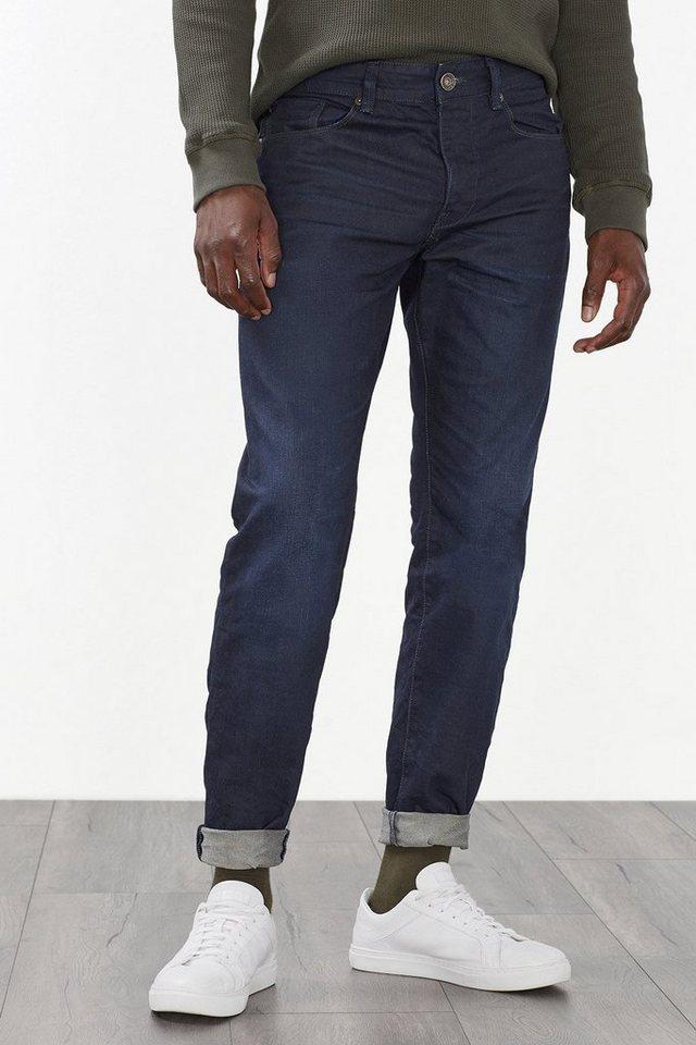 ESPRIT CASUAL Dunkle Jeans aus beschichtetem Denim in BLUE DARK WASHED