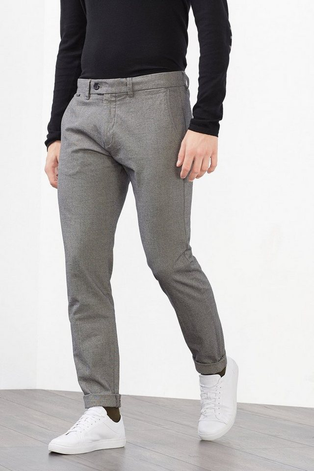 ESPRIT COLLECTION 2-Tone Chino, 100% Baumwolle in DARK GREY