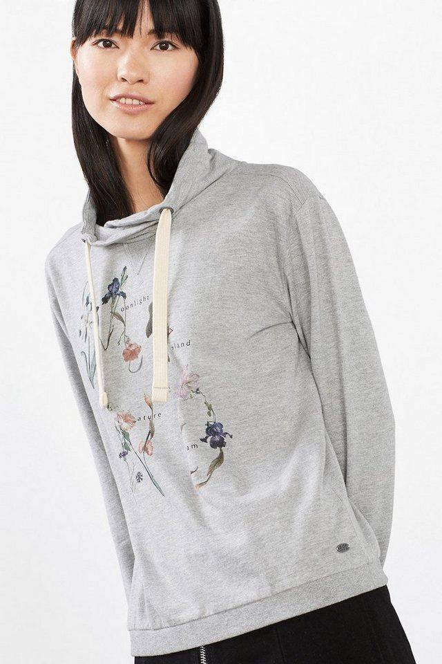 EDC Sweatshirt aus Baumwoll-Mix in LIGHT GREY