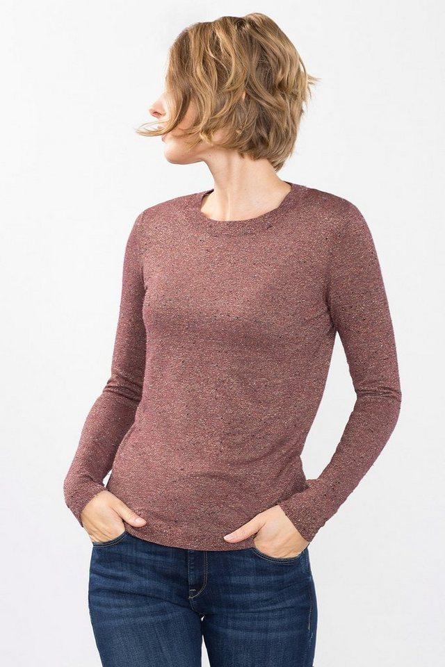 ESPRIT COLLECTION Luxuriöser Sweater mit Seide in DARK OLD PINK