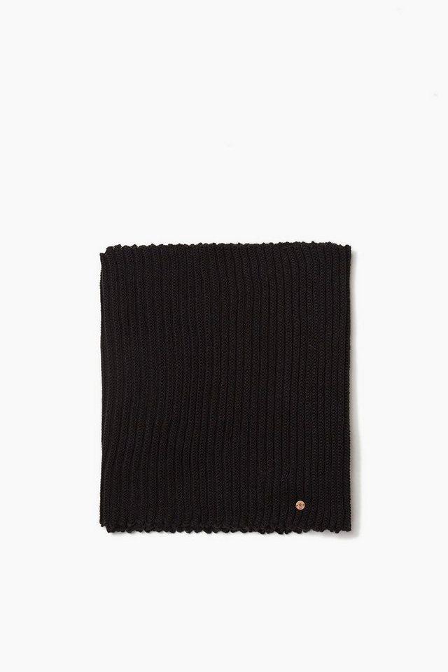 EDC Loop-Schal aus weichem Rippstrick in BLACK