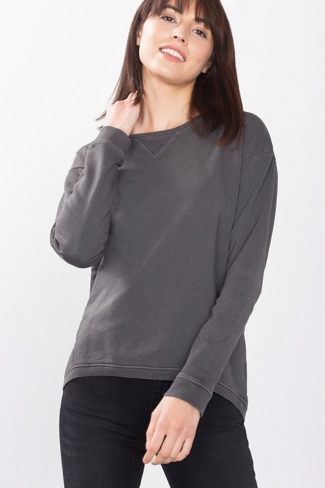 ESPRIT CASUAL Sweatshirt in modernem Cut in ANTHRACITE