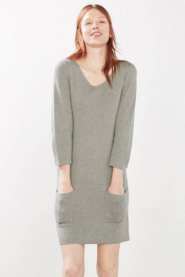 ESPRIT CASUAL Strick-Kleid mit Taschen in MEDIUM GREY