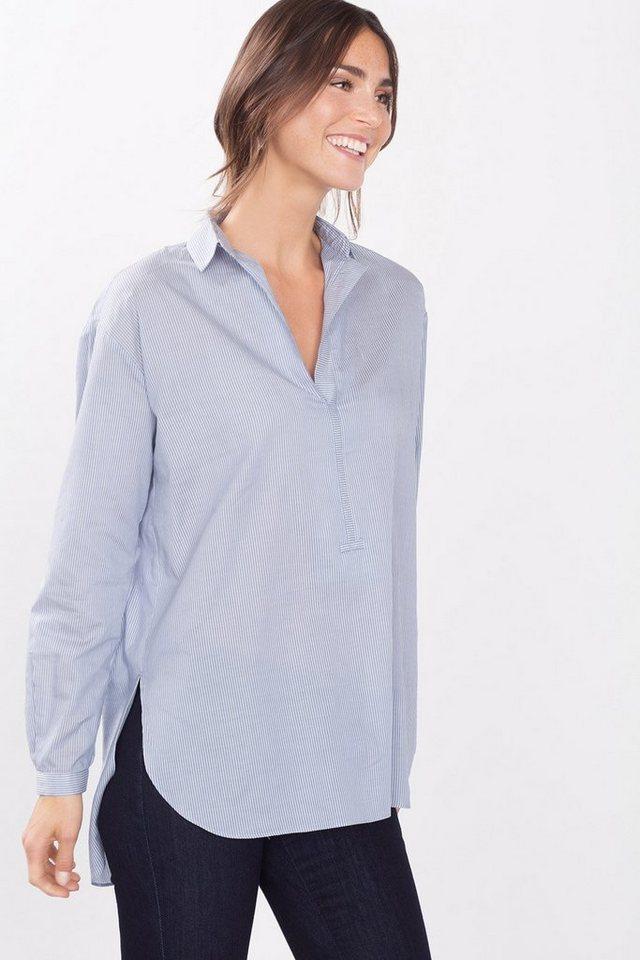 ESPRIT CASUAL Moderne Nadelstreifen-Bluse in BLUE