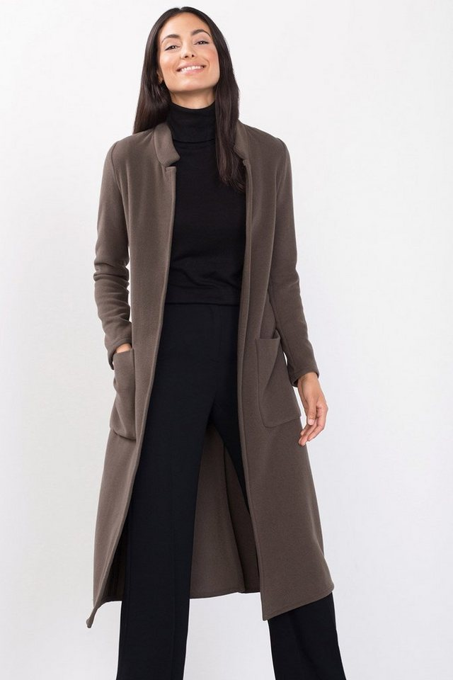 ESPRIT CASUAL Mantel aus Woll-Mischung mit Kaschmir in TAUPE
