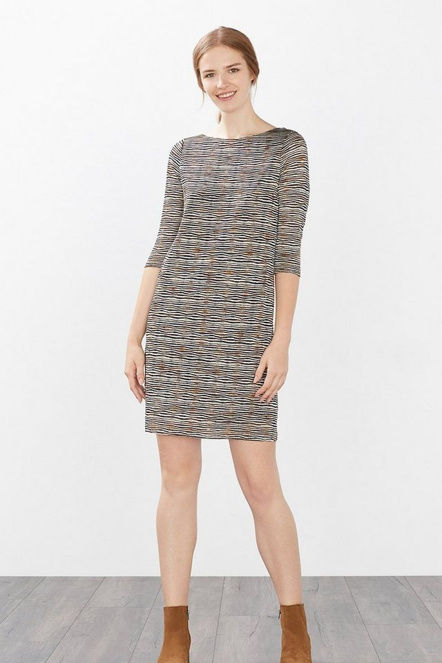 ESPRIT COLLECTION Multicolor Stretch Ajour-Kleid in SAND