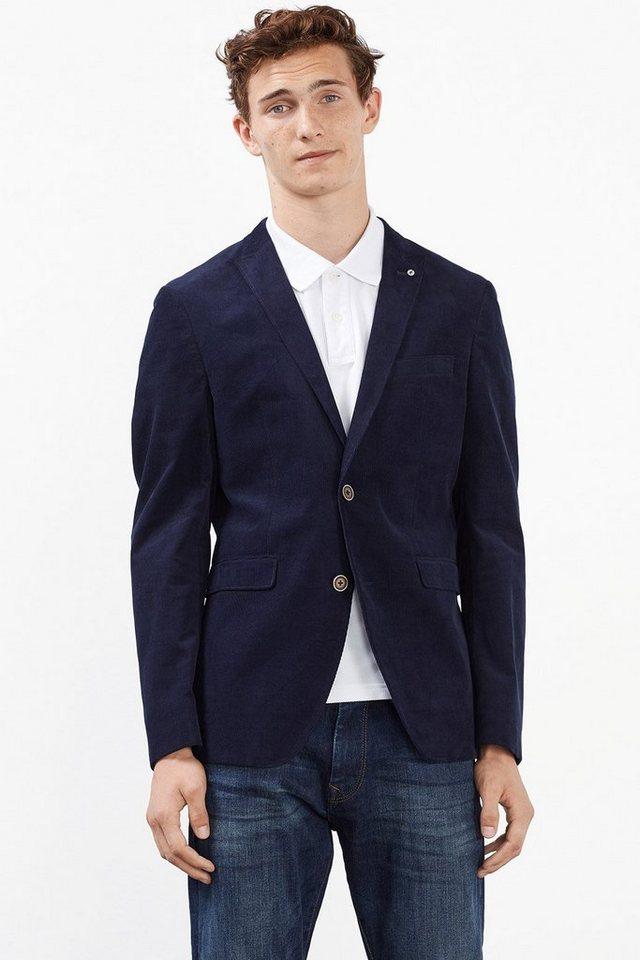 ESPRIT COLLECTION Feincord Blazer aus reiner Baumwolle in NAVY