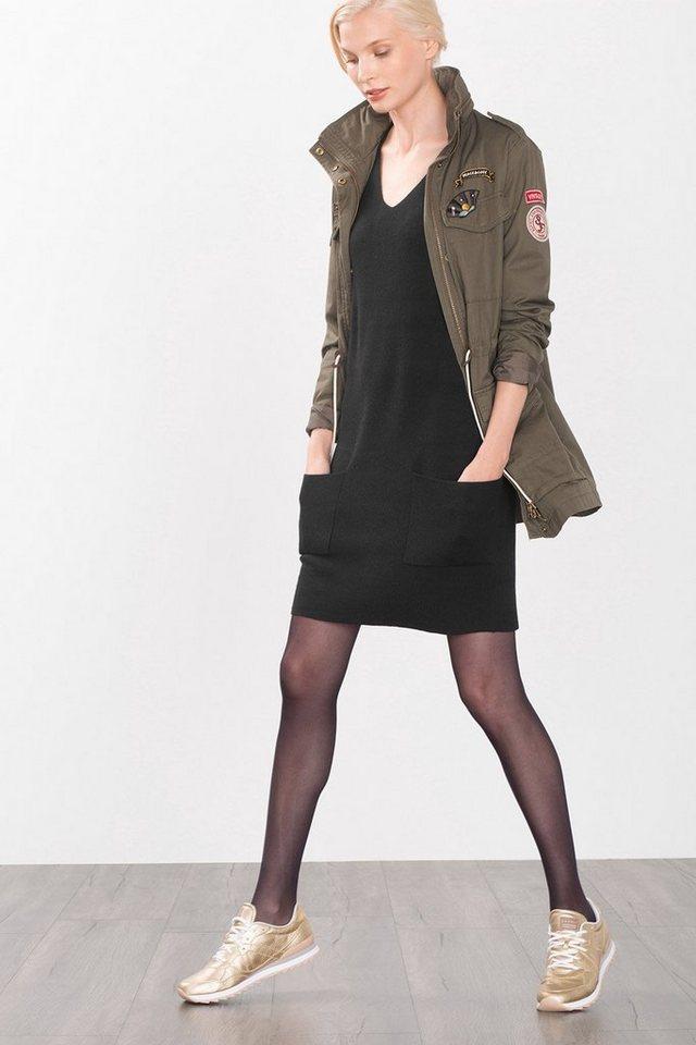 ESPRIT CASUAL Strick-Kleid mit Taschen in BLACK