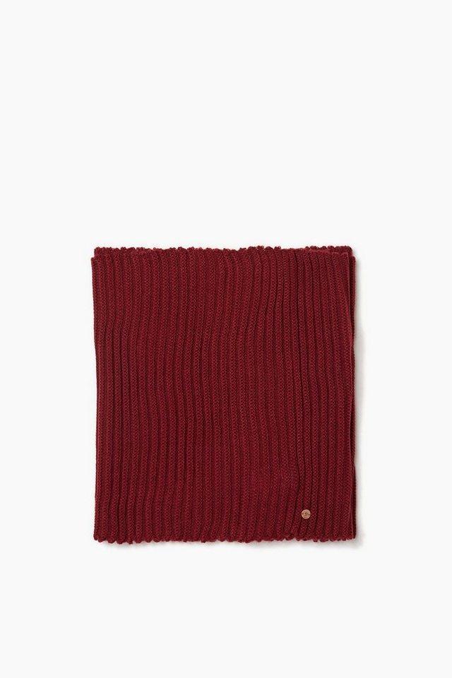 EDC Loop-Schal aus weichem Rippstrick in GARNET RED
