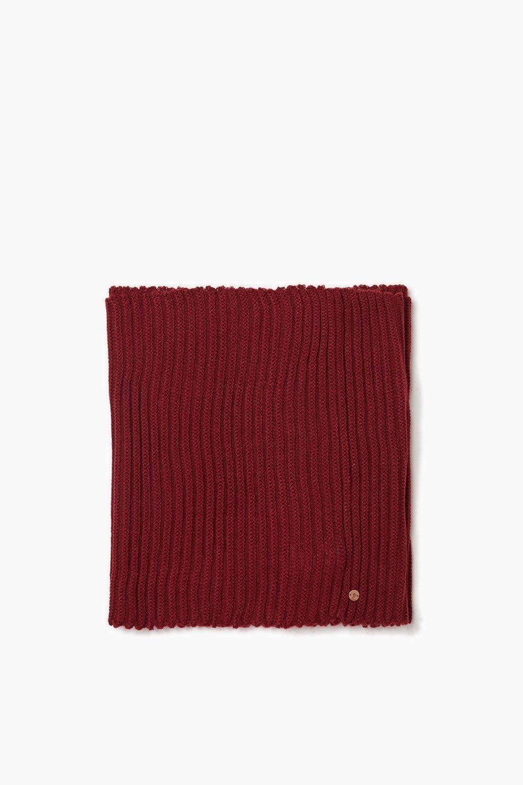 EDC Loop-Schal aus weichem Rippstrick