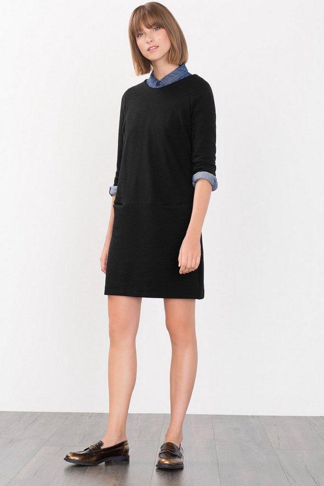 ESPRIT CASUAL Geripptes Kleid aus festem Jersey in BLACK