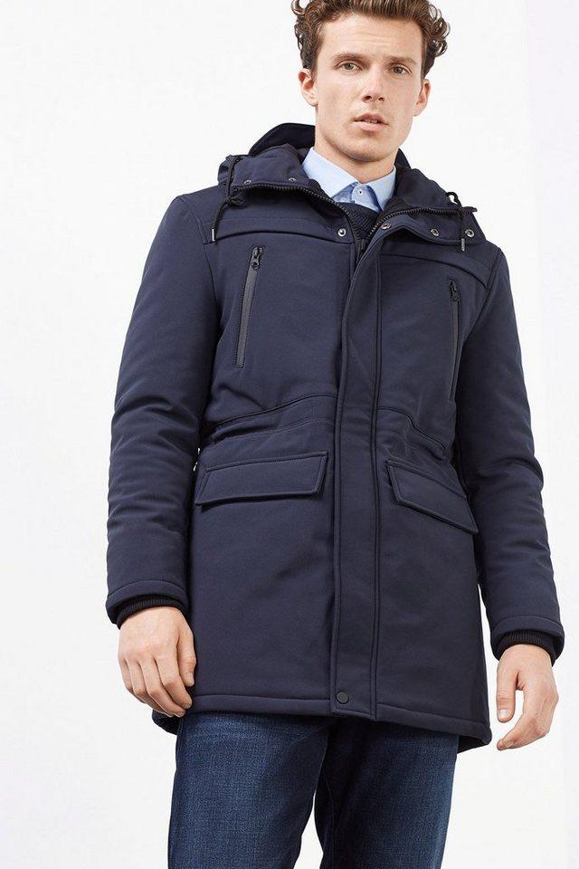 ESPRIT COLLECTION Wattierte Softshell Jacke mit Mesh-Futter in NAVY