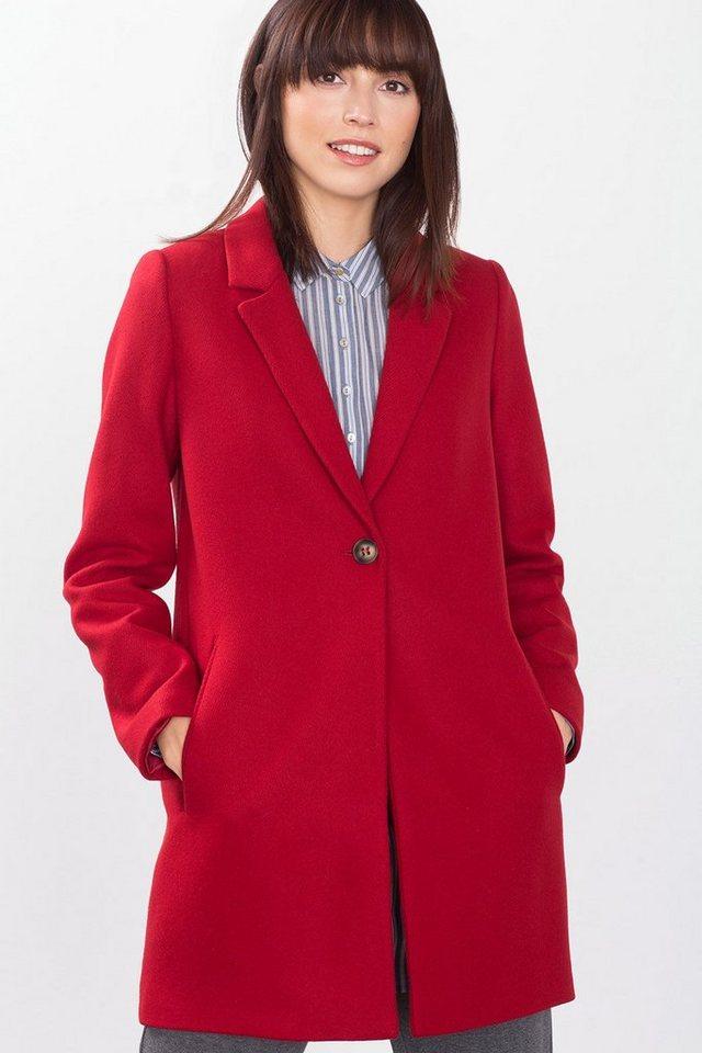 ESPRIT COLLECTION Blazermantel aus italienischem Wollmix in RED