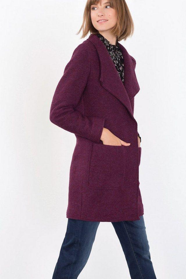 ESPRIT CASUAL Mantel aus gekochtem Woll-Mix in BORDEAUX RED
