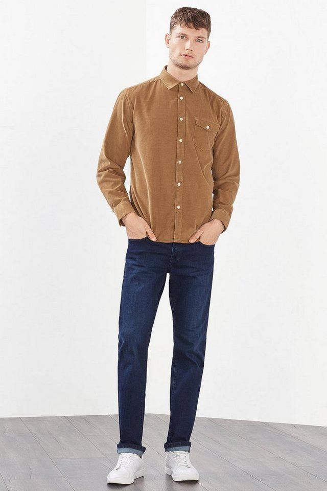ESPRIT CASUAL Weiches Feincord Hemd, 100% Baumwolle in CAMEL