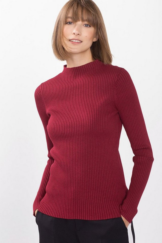 ESPRIT COLLECTION High Powered Rib-Sweater in GARNET RED