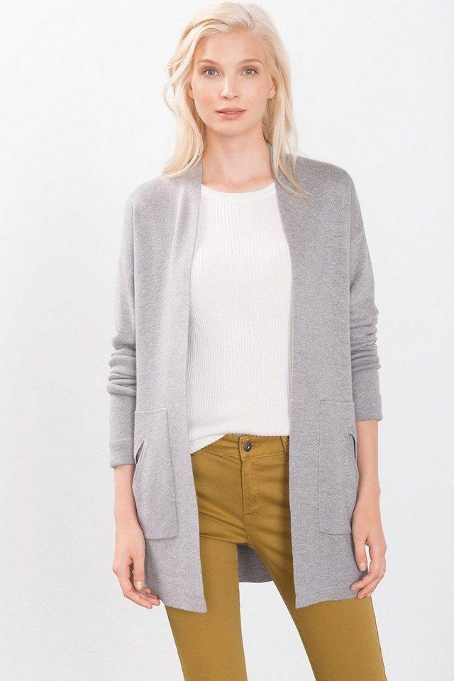 ESPRIT CASUAL Fashion Long Cardigan in MEDIUM GREY