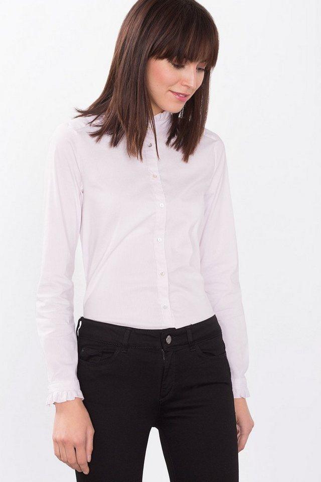 ESPRIT COLLECTION Business-Bluse aus Baumwollmix in LIGHT PINK