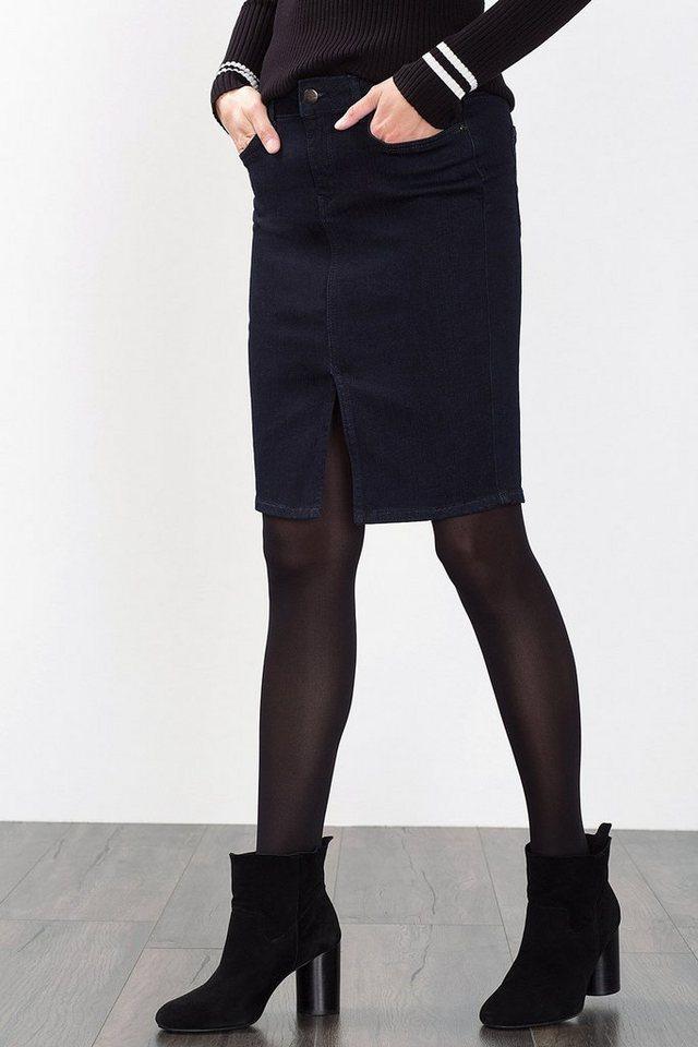 ESPRIT COLLECTION 5-Pocket Denim Stiftrock mit Stretch in BLUE RINSE