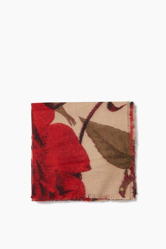 ESPRIT CASUAL Flauschiges Webtuch, verschiedene Muster in BERRY RED