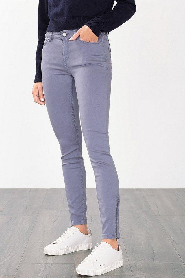 ESPRIT CASUAL Fashion Hose mit Außen-Zipper in LIGHT BLUE LAVENDER