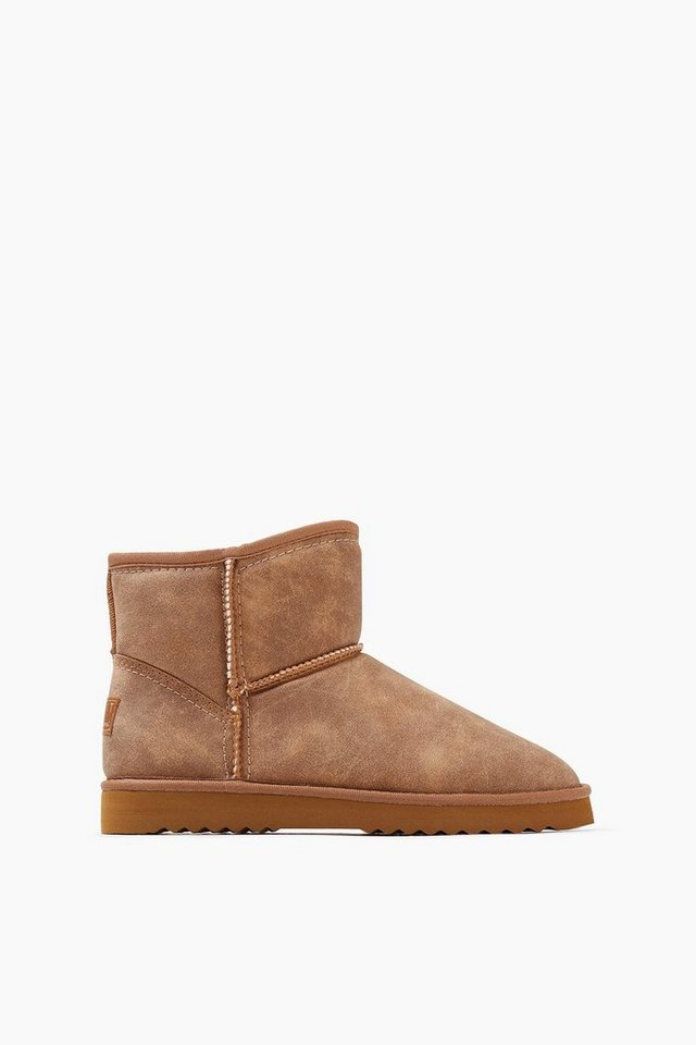 ESPRIT CASUAL Soft Bootie mit Webfell-Futter in RUST BROWN