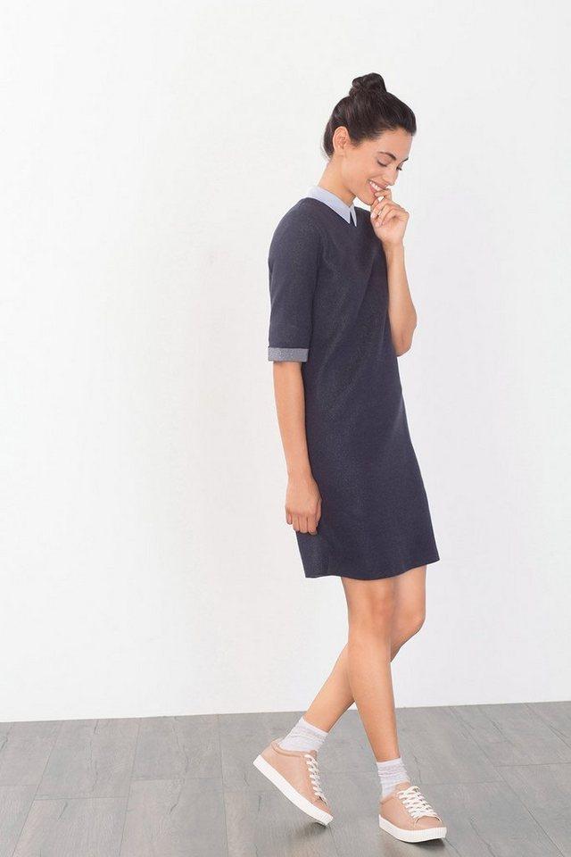 ESPRIT CASUAL Puritisches Kleid aus Baumwolle in NAVY