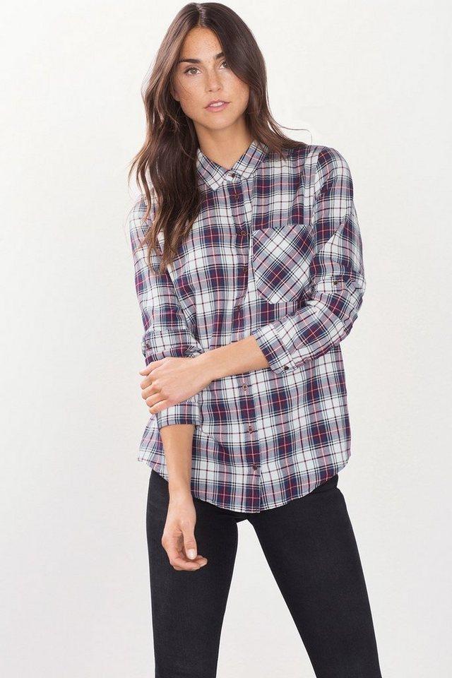 ESPRIT CASUAL Bluse aus 100% Baumwolle in NAVY