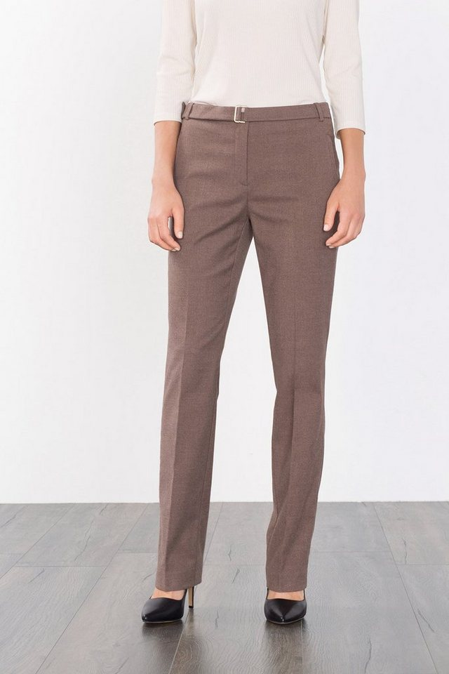 ESPRIT COLLECTION Twillhose mit Flanell-Touch in TAUPE
