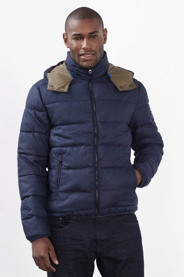 ESPRIT COLLECTION Wattierte Jacke mit Melange-Effekt in NAVY